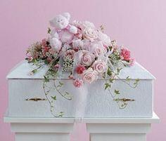 Pink Infant Casket Spray with Plush Funeral Flower Arrangements, Funeral Flowers, Pink Roses, Pink Flowers, Funeral Caskets, Casket Flowers, Wholesale Plants, Casket Sprays, Grave Decorations