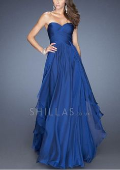 Long Dark Royal Blue Sweetheart Prom Dresses 6108223 - 6108223 - Prom Dresses