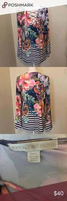 Boston Proper Floral Tunic Stunning!  NEW WITHOUT TAGS Boston Proper Tops Tunics