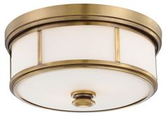 Flush mount lighting for the bathroom. I'm not looking for the exact model but this is a perfect example for this type of lighting.  If I will have metal detailing on my flush mount I want it in silver to match the plumbing fixtures. - Love, Grace