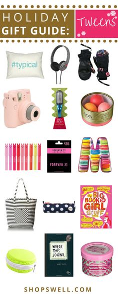 Those hard to shop for tweens will be thrilled to find some of these items under the tree this year or in their stocking. Shop now for the latest holiday gift ideas and track prices on Shopswell to get the best deals available on items your kids will love.