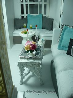 Barbie Dollhouse Living Room 2 by SS-Designs Doll Interiors, via Flickr
