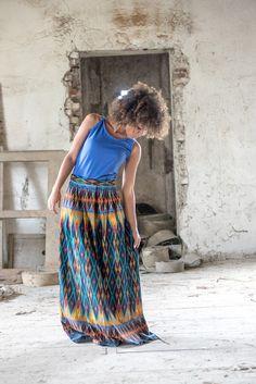 Faldas maxi - Java Skirt - hecho a mano por KOKOworld en DaWanda #DaWanda #hechoamano #diseño #handmade #DIY #moda #fashion #vestido #camiseta #calzado