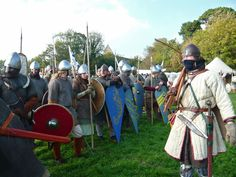 Re-enactment of The Battle of Hastings in Sussex. The battle took place at Senlac on 14th October 1066 and after the Norman Army defeated King Harold the old Anglo-Saxon world was changed forever.