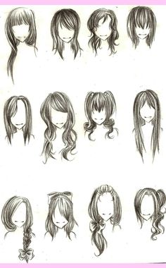 Anime Hairstyles For Girls Sketch Hd Images 3 HD Wallpapers