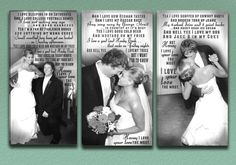 Wedding Vow Photo Canvas in Black and White by DesignerCanvases, $275.00