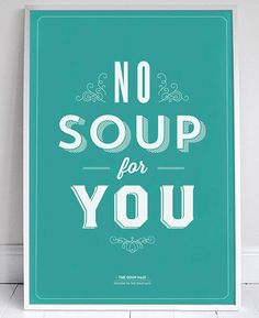 Typographic Seinfeld Posters by Sign-Feld   Inspiration Grid   Design Inspiration