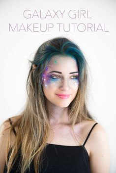 Get ready for Halloween with this fun, creative and easy costume idea! Here's a Galaxy Girl Makeup Tutorial that will impress everyone!