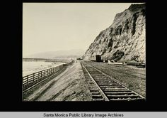 Railroad line to the Long Wharf freight pier built by the Southern Pacific Railroad Company in 1893