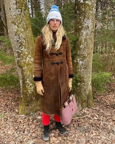 "Veronika Heilbrunner on Instagram: ""💁♀️ #alwaysdressupforthewoodsbrunner"" Sheepskin Coat, Prada, Fur Coat, Vest, Jackets, Instagram, Fashion, Down Jackets, Moda"