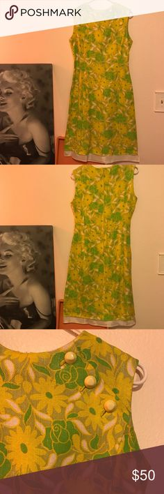 Vintage Shift Dress Vintage yellow and green shift dress 💚💛 Vintage Dresses Mini