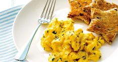 Chives are a tasty addition to creamy scrambled eggs.