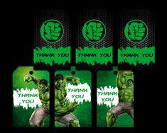 The Hulk Tags Party Printable Party Printables, Hulk, Tags, Incredible Hulk