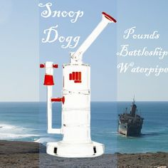 Snoop Dogg - Pounds Battleship Water Pipe. Designed for ultimate rips with triple water percolation! #snoop #snoopdogg #bong #waterpipe #celebrity  Only at Wisepipes.com
