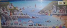 CANVAS 48 X 20 HOLIDAY PICTURE BY THE SEASIDE HARBOUR | eBay Holiday Pictures, Canvas Prints, Art Prints, Nautical Theme, Seaside, Giclee Print, Landscape, Painting, Ebay