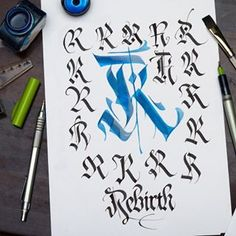 R is for Rebirth. Unfortunately R is quite stale in its basic form, but I tried my best to make you some interesting variations still 😌… Calligraphy Fonts Alphabet, Calligraphy Signs, Hand Lettering Alphabet, Graffiti Alphabet, Graffiti Lettering Fonts, Tattoo Lettering Fonts, Cool Lettering, Lettering Design, Tattoo Alphabet