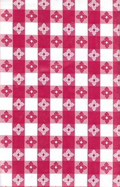 Red White Small Tavern Check Vinyl Tablecloth with Umbrella Hole and Zipper 90 Round