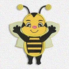 Adorable Applique waving bee free