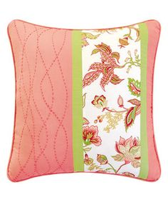 Look at this #zulilyfind! Pink Dancing Flowers Throw Pillow by C & F #zulilyfinds