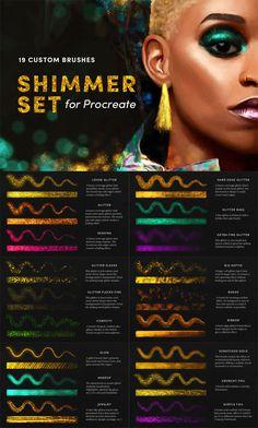 This set of 19 adorable brushes are designed for the fashion stylists, makeup designers and artists. Digital Painting Tutorials, Digital Art Tutorial, Amazing Animals, Styling Brush, Affinity Designer, Ipad Art, Eyeliner, Grafik Design, Art Tips