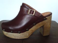 Wooden ClogsWooden ShoeWedge ShoesGucci ShoesAnkle StrapWedgesWedge Pump