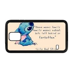 Custom Ohana Lilo And Stitch Cell Phone Case Cover For Samsung Galaxy S3 S4 S5