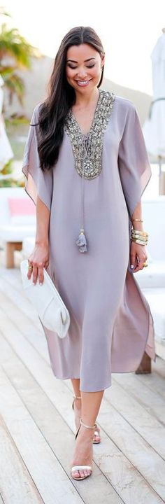 purple dress @roressclothes closet ideas #women fashion outfit #clothing style apparel