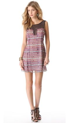 Mara Hoffman Combo Shift Dress + L'AGENCE Dani Plexi Sandals