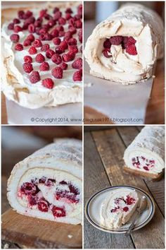 I love the color red. Year-round, for Polish Desserts, Polish Recipes, Cookie Desserts, Sweet Recipes, Cake Recipes, Dessert Recipes, Pavlova, Sweet Cakes, Food Cakes