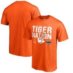 Orange Youth X-Large 16 NCAA Clemson Tigers Youth Girls Goal Line Basic Tee