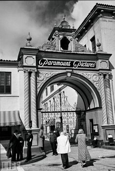 Front gate at Paramount Studios, 1930's