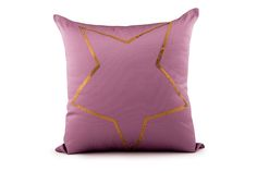 Star Sequin Embroidered Tafetta Cushion Cover by Suraaj Linens