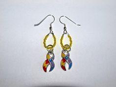 Autism Awareness Beaded Earrings by InfinityBeading on Etsy, $10.00