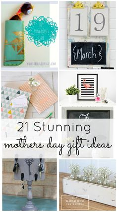 Mothers Day will be here soon! This is an awesome list of ideas that moms will use for sure!! I want to make all of these ideas!!