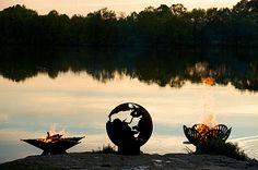 Fire Pit Art! #outdoor #fireplaces #outdoor #entertaining mantelsdirect.com