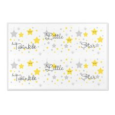 TWINKLE LITTLE STAR Area Floor Rug Baby Nursery Yellow Celestial Room Decor Star Nursery, Nursery Decals, Baby Nursery Decor, Babies Nursery, Farm Animal Nursery, Elephant Nursery, Yellow Nursery, Nursery Neutral, Nursery Area Rug