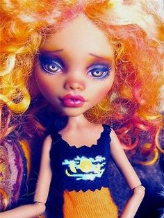 Clawdeen Wolf Custom Repaint Monster High Doll Faceup Makeover Mohair OOAK NEW