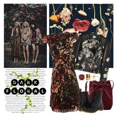 """dark florals"" by art-gives-me-life ❤ liked on Polyvore featuring Envi:, Mansur Gavriel, Dr. Martens, Allurez, contestentry and darkflorals"