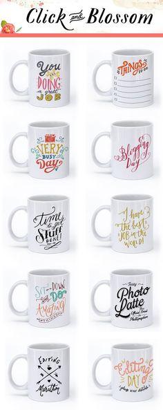 Click and Blossom Mugs