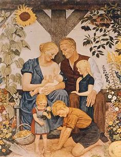 Idealized German idea of the Aryan Family