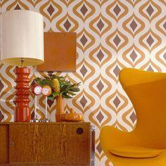 Trippy Orange Wallpaper, , large