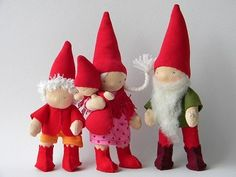 A family of gnomes.