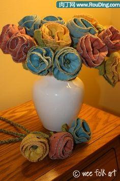 Flores de feltro #DIY
