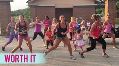 "We held a few Dance Fitness with Jessica classes outside and this one to Fifth Harmony's ""Worth It"" was perfect! We are all worth it! Have fun and get into i..."