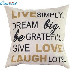 2017 Hot Homey  2017 design English words Home  Bed Decorative Pillow Cover Cushion Case pillow cover ship free JA25 #Affiliate
