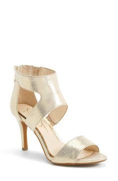 330a600d8d930 Jessica Simpson  Mekos  Cutout Sandal (Women) available at  Nordstrom  Metallic Heels