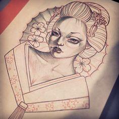 #베이비돌2 페이비페이스로 게이샤입니다. [작업예약가능도안] - #게이샤#베이비돌#페이비페이스#타투도안#게이샤타투#이바사타투#타투이스트크리스탈#tattoovim#crystaltattoo#geisha#tattooflash