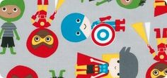 Super Kids by Ann Kelle: Children's Novelty Fabric: Robert Kaufman Fabric Company. Contents: 100�0COTTON; Width: 44'' wide; Weight: 4.3 oz. per square yard.