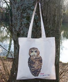 Owl Illustrated Cotton Tote Bag - £9. Available here; https://www.etsy.com/listing/117947099/northern-spotted-owl-illustrated-cotton#