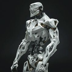 """""""Robot concept design with particular attention to details by Vitaly Bulgarov, hard surface…"""" Cyberpunk, Robot Concept Art, Armor Concept, Tattoos Bras, Character Concept, Character Art, 3d Printed Robot, Arte Robot, Robots Characters"""